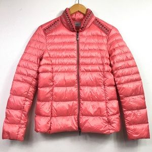 MAX MARA PENNYBLACK CORAL DOWN QUILTED JACKET SZ 6
